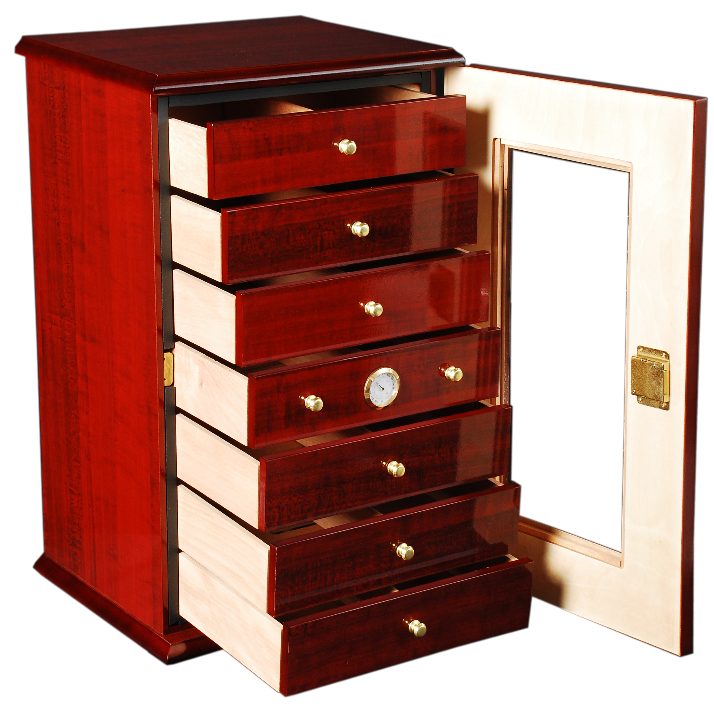 150 Cigar Charleston Vertical Humidor with Drawers #B61204