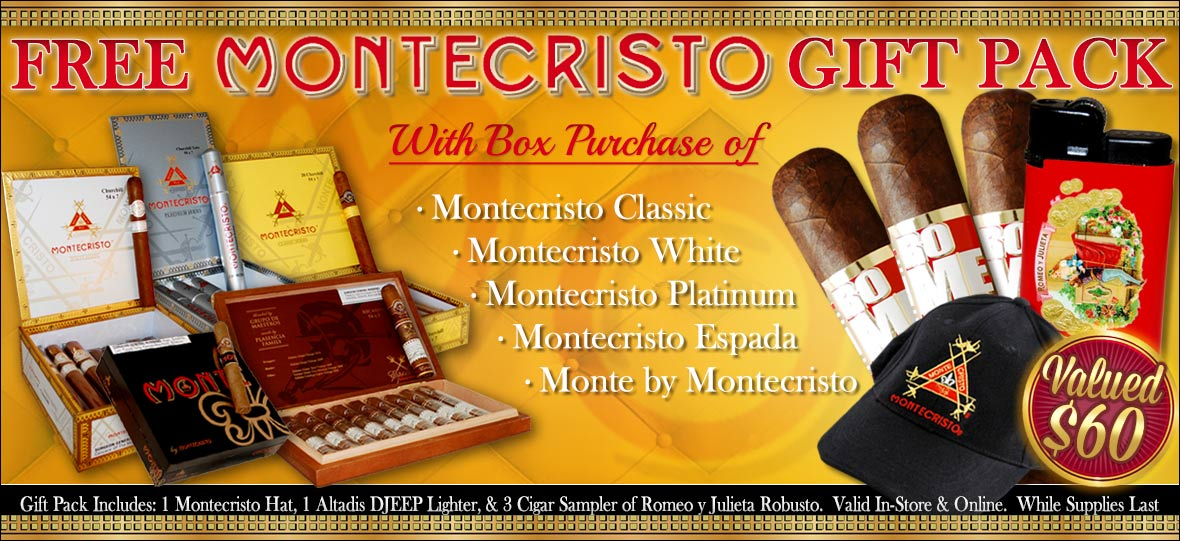 Free Cigar Gift Pack With Montecristo Cigar Box Purchase