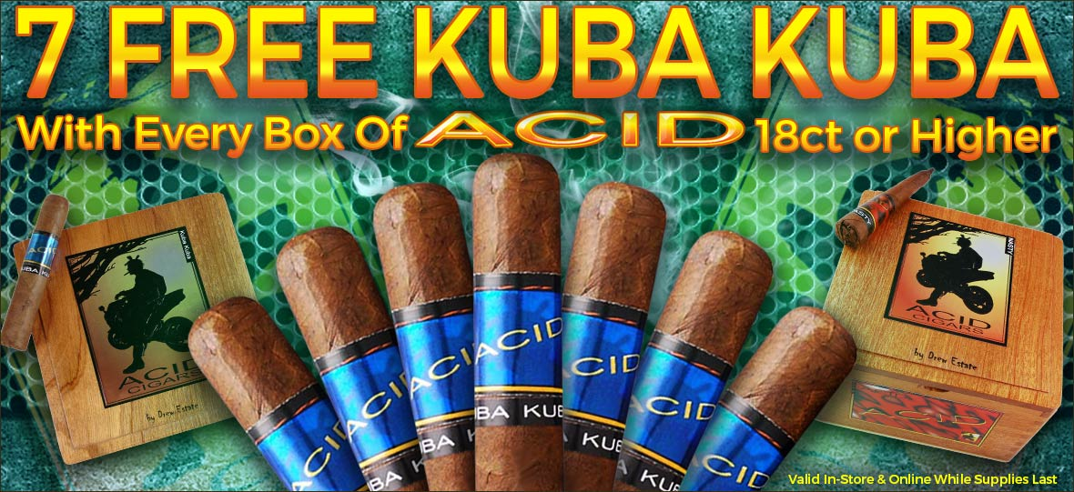 7 Free Kuba Kuba Cigars With Acid Cigars Box Purchase