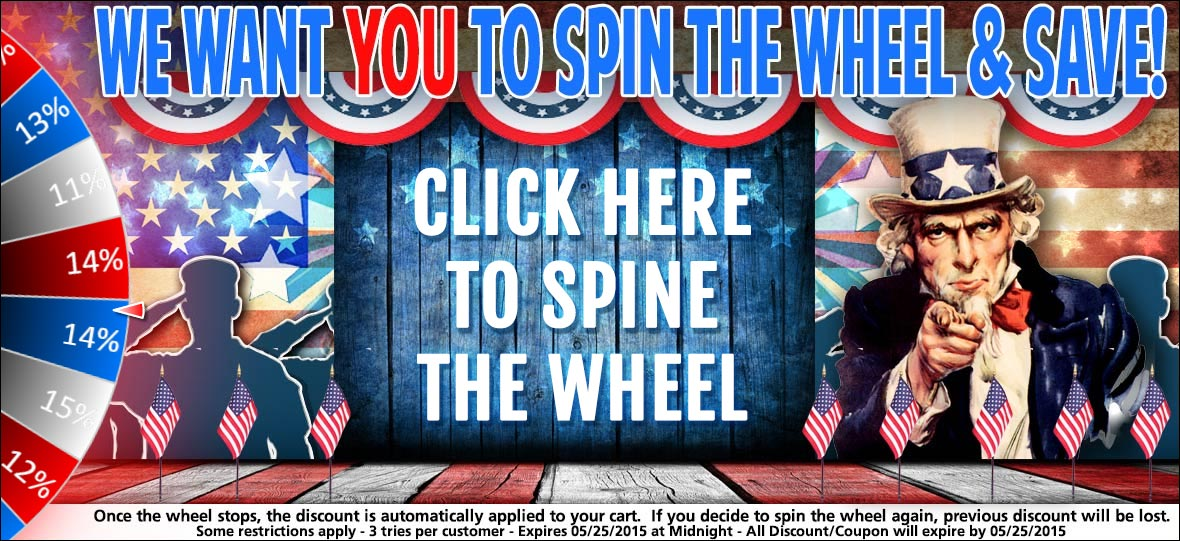 Spin The Wheel Of Fortune to Discover Your Discount!