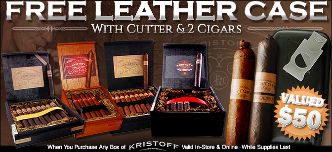 Kristoff Cigars- Buy 1 Box get Free Leather Case with Cutter and 2 Cigars