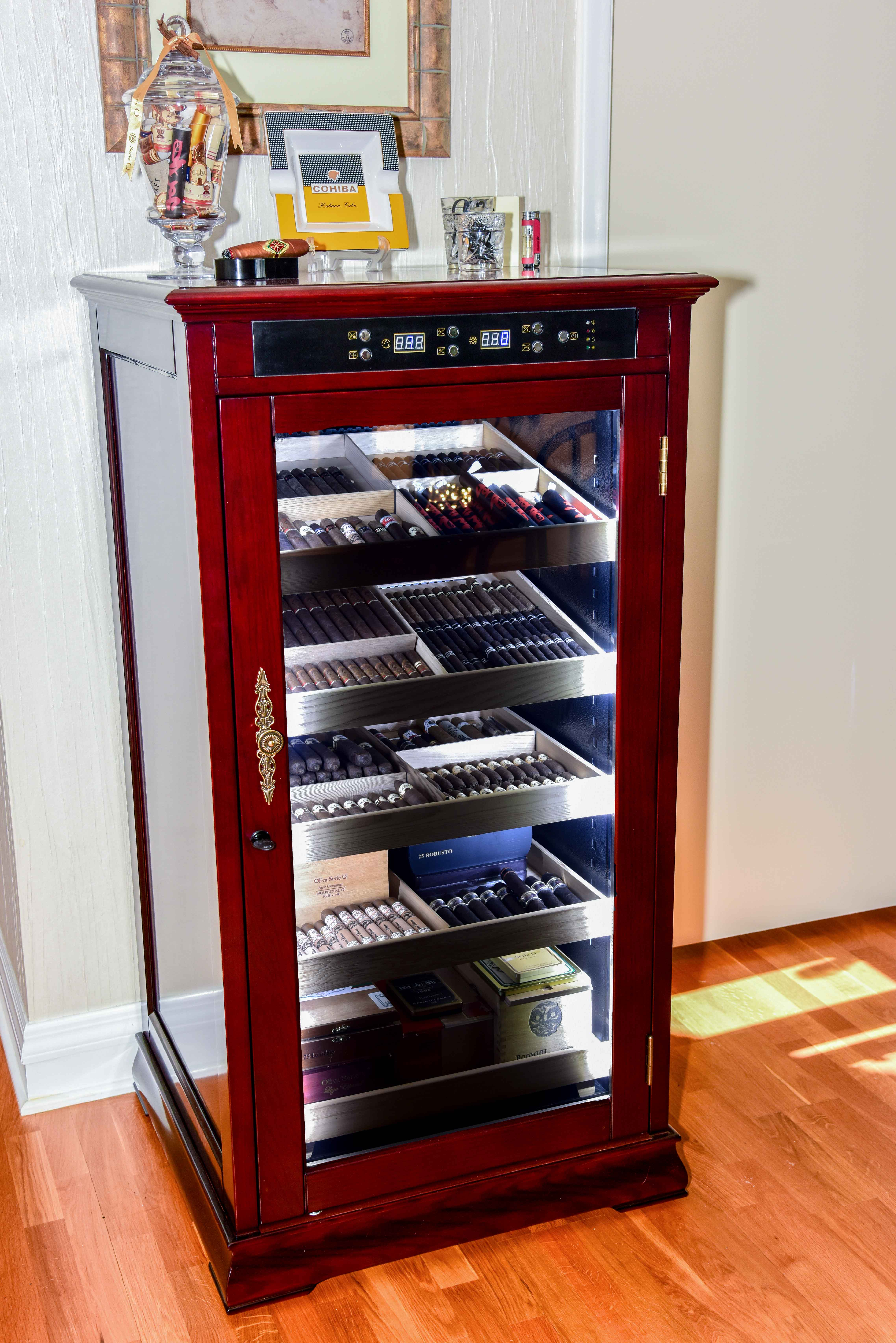 Redford Electronic Cigar Humidor Cabinet Cabinets Matttroy