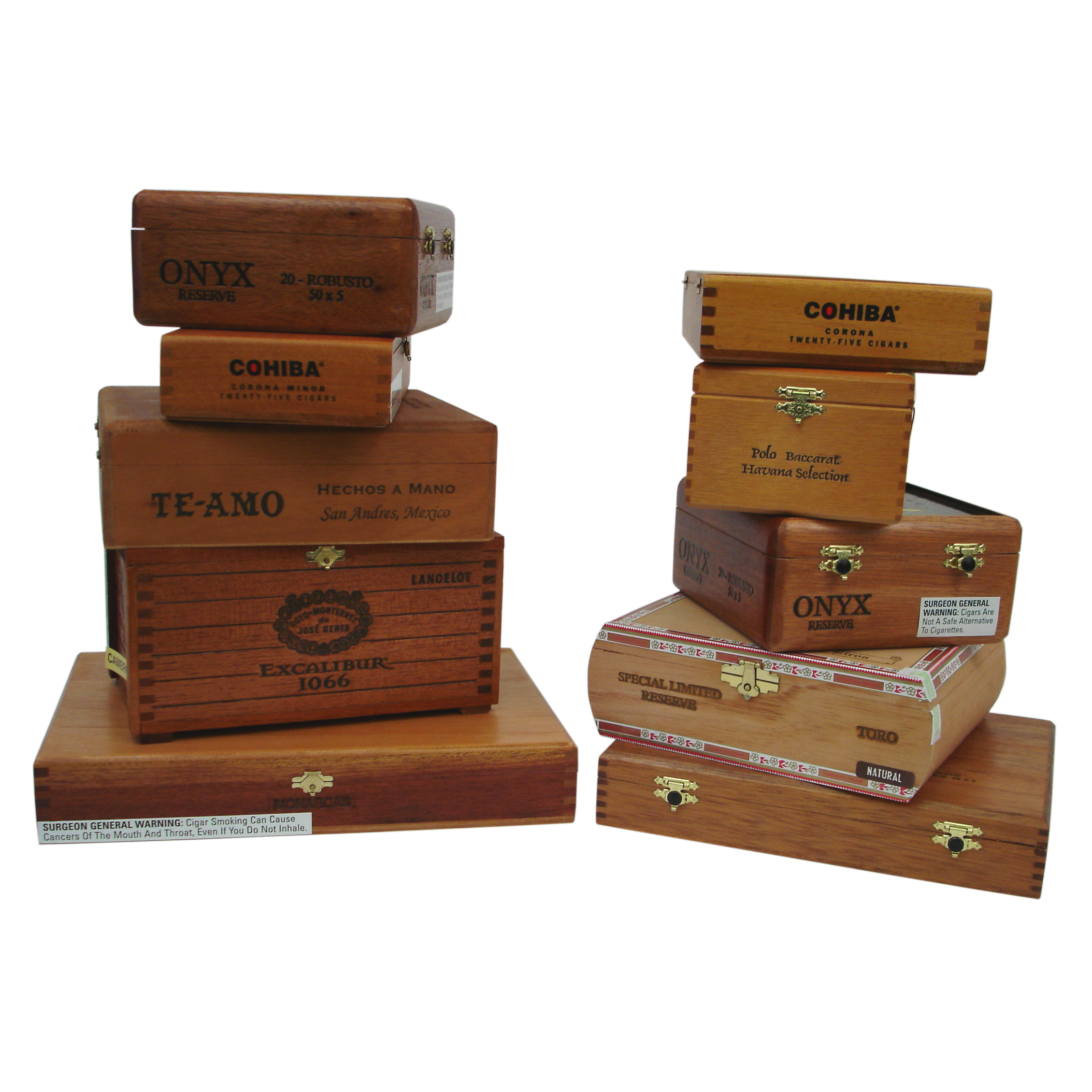 Wooden Empty Cigar Box Pack Of 10