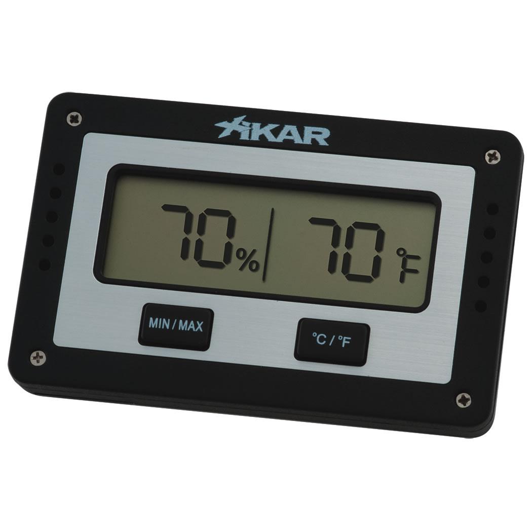 Digital Cigar Hygrometer Electronic Themometer Silver