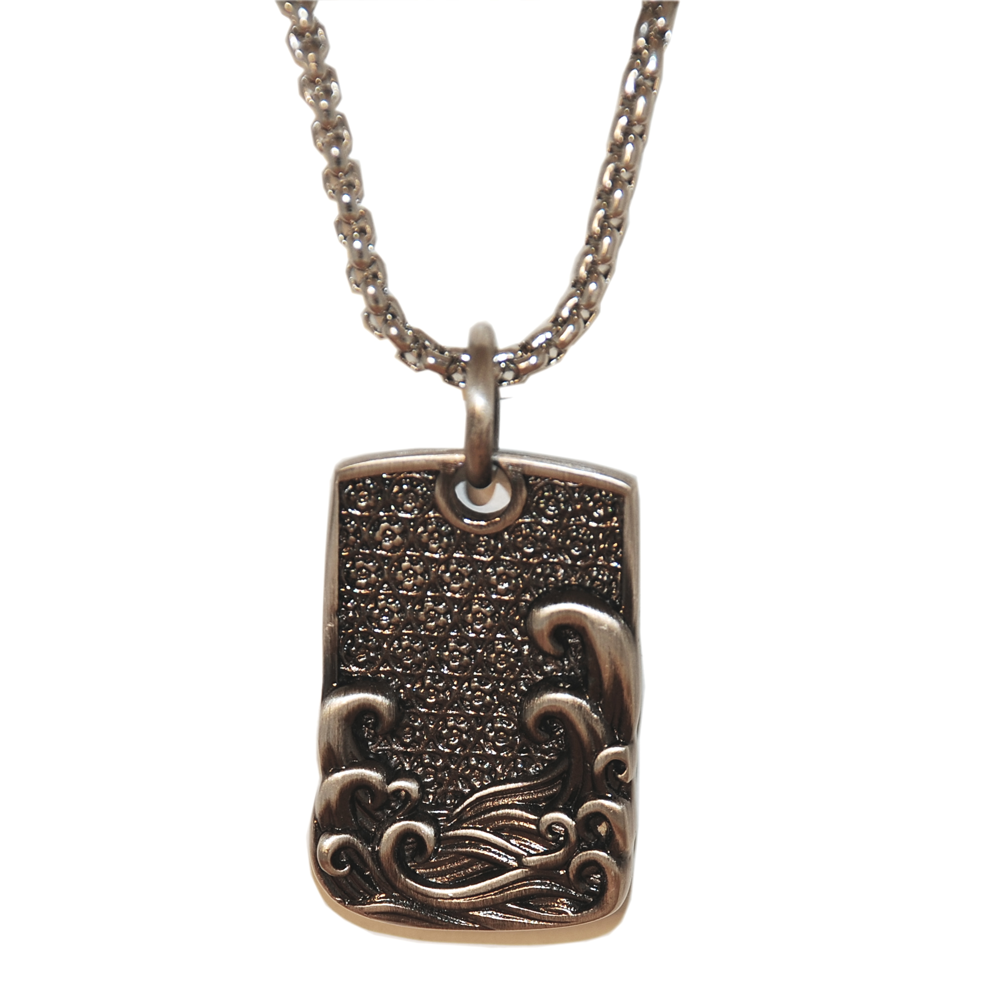 Room 101 Collection Japanese Wave Dog Tag Pendant In