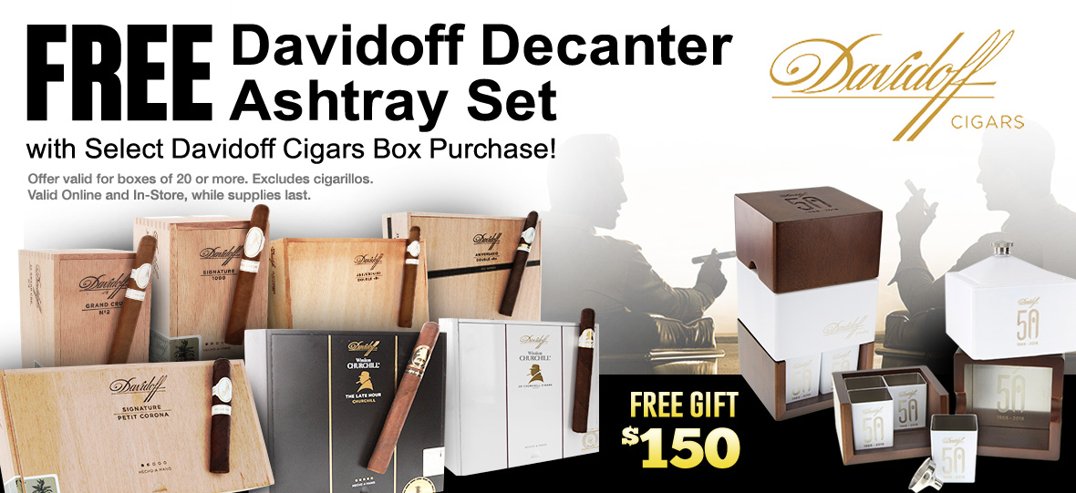 Free Decanter With Davidoff Box Purchase
