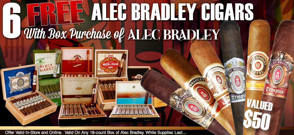 6 Free Cigars With Alec Bradley Box Purchase!