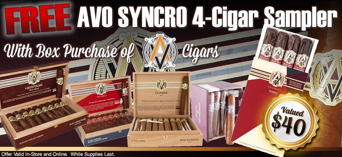 Free Avo Syncro 4-cigar Sampler With Avo Box Purchase