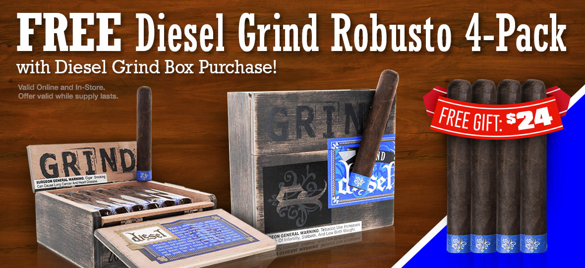 Free Diesel Grind Robusto 4-pack With Box Purchase