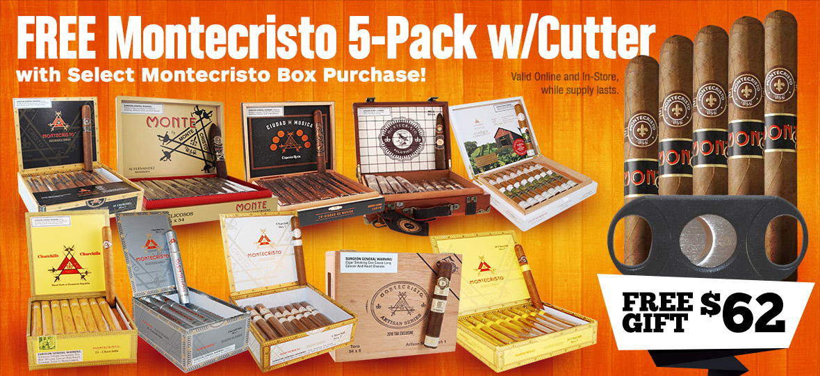 Buy Select Box, get free 5-Pack Monte plus Cutter!
