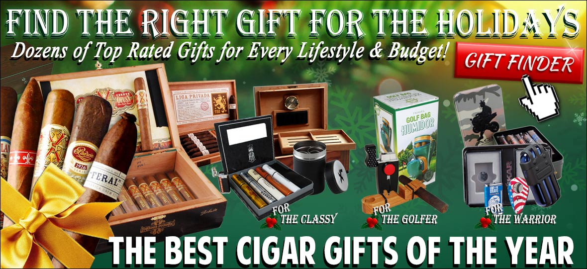 Find the right cigar gift for the holidays!