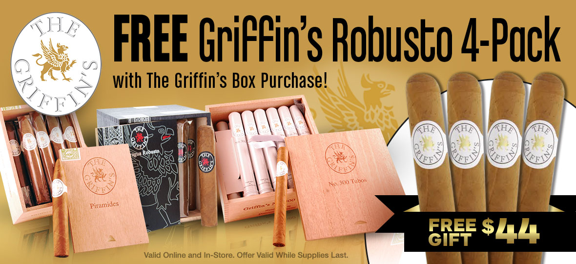 Free Griffin s Robusto 4-pack With Box Purchase!
