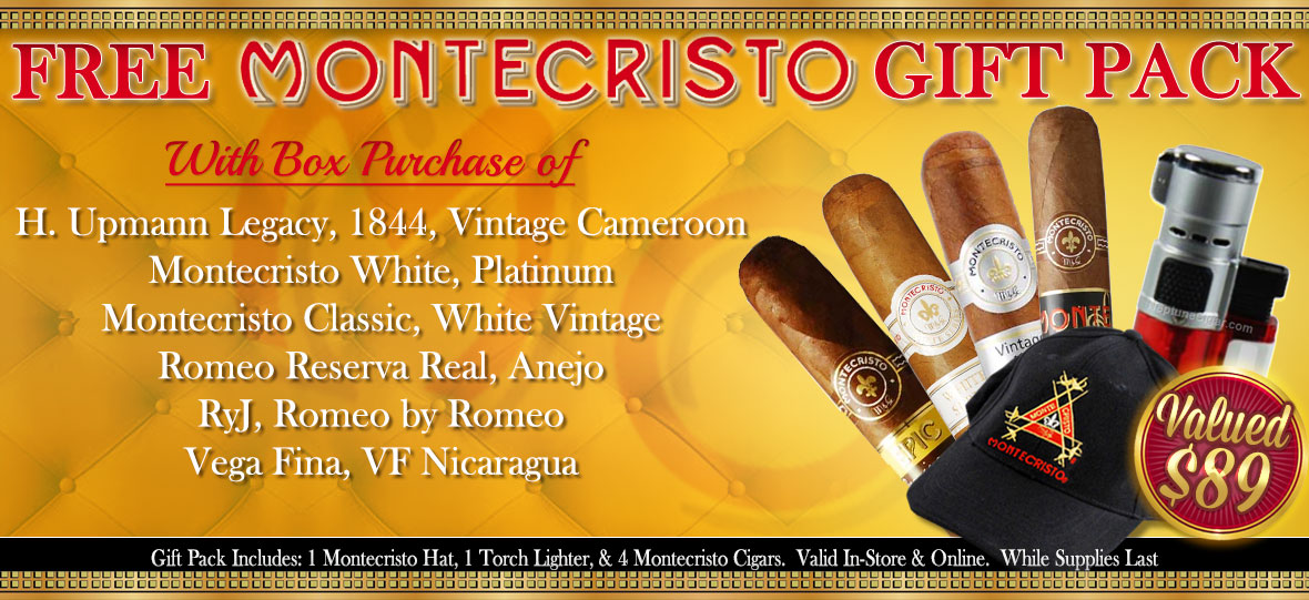 Free Montecristo Gift Pack With Select Box Purchase From Altadis