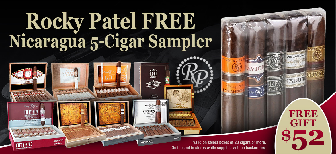 Get one 5-pack of Rocky Patel Nicaragua with Select Box Purchase