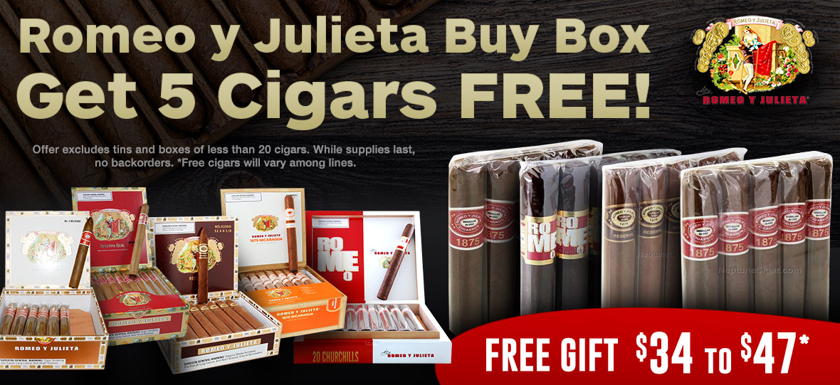 5 Cigars Free with Every Box of 20 or More!