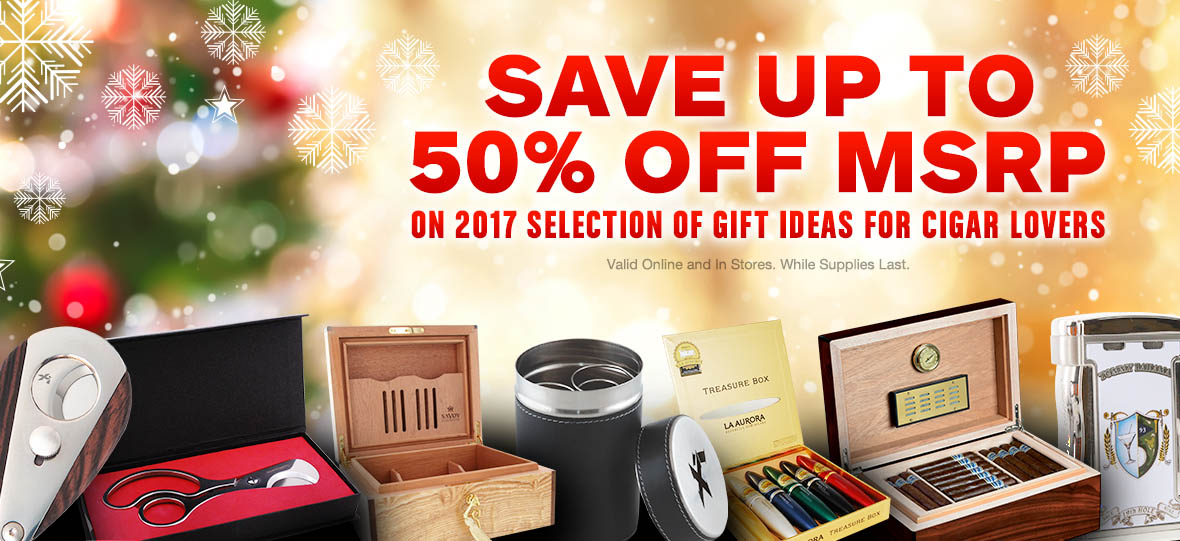 Save up to 0% OFF MSRP on Cigar Gift Ideas!
