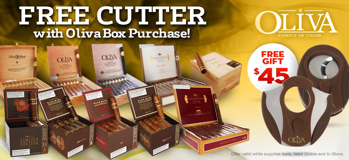 Free Premium Cigar Cutter With Oliva Box Puchase