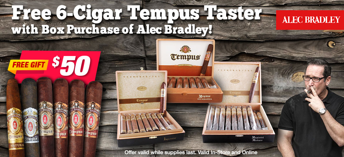 6 Free Alec Bradley Cigars With Box Purchase of Alec Bradley