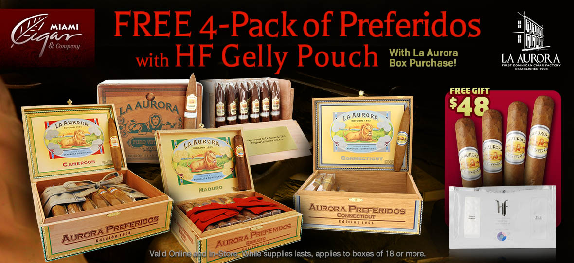 Free 4-pack and a Gelly Pouch with Box Purchase of La Aurora
