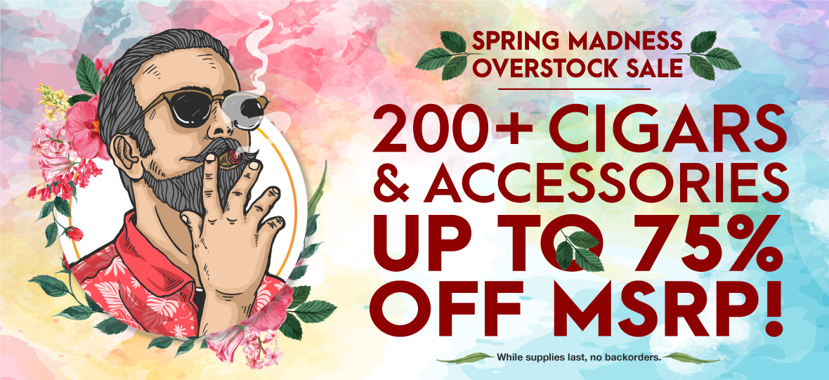 Save BIG on hundreds of Cigars and Accessories! Instant Discount of up to 70% off MSRP.