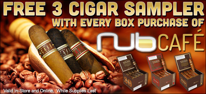 Free Nub Cafe 3-Pack with Box Purchase