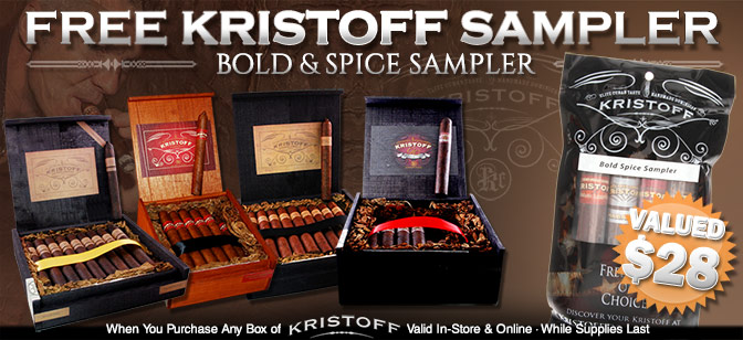 Kristoff: Free Bold Spice Sampler with Box Purchase