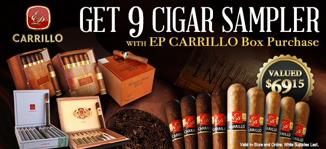 EP Carrillo Sale, 9-Cigar Sampler with Box Purchase