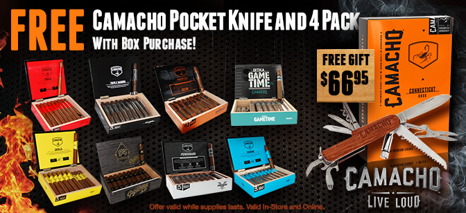 Camacho 4-Pack and Swiss Pocket Knife  with Box Purchase