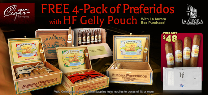 La Aurora Preferidos and Puro Vintage: Free 4-Pack and HF Gelly Pouch
