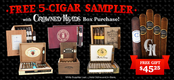 Crowned Heads- FREE 5-Cigar Sampler with Box Purchase