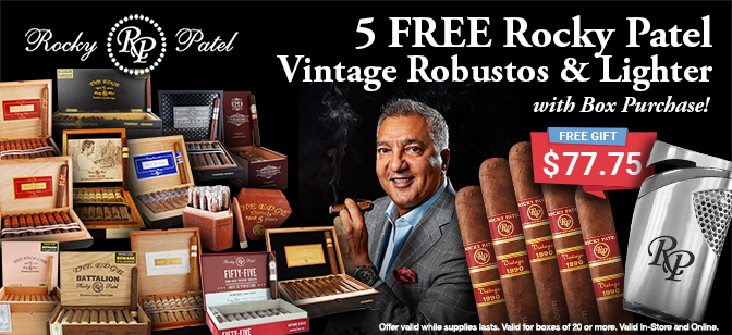 Rocky Patel 5-Pack with Lighter
