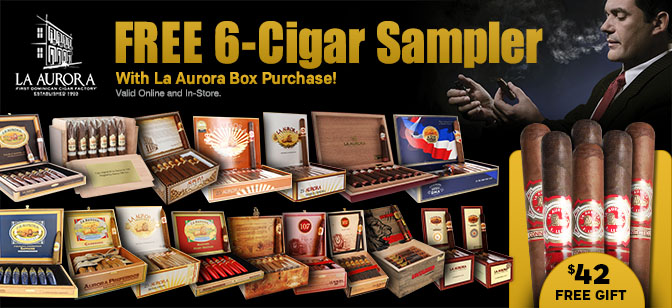 La Aurora Get 6-Cigar Sampler With Box Purchase