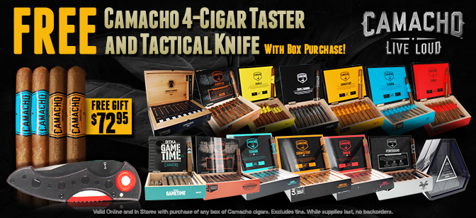 Camacho Taster and Tactical Knife with Box Purchase