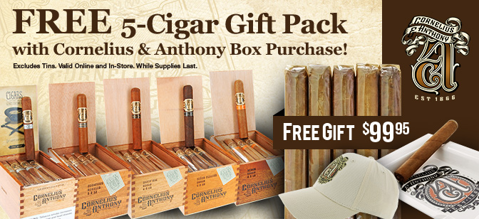 Cornelius & Anthony 5-Cigar Gift Pack Giveaway