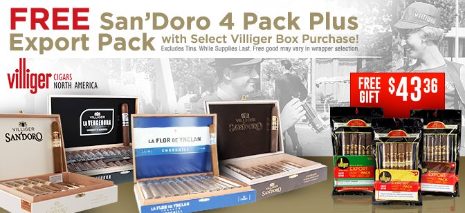 Villiger: 5 Pack of SanDoro plus 1 pack of Export with Box Purchase