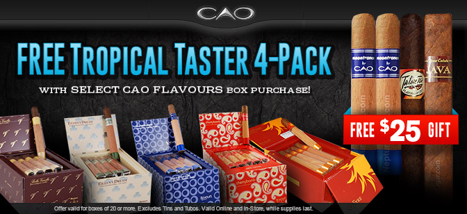 Tropical Taster 4-Pack with CAO Flavours Box Purchase!