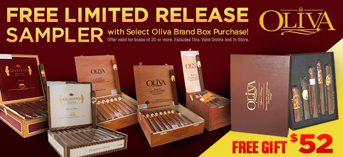 Select Oliva Brands-Free Limited Release Sampler with Purchase