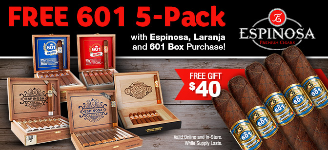 601 Blue 5-Pack Bonus with Espinosa Brand Box Purchases