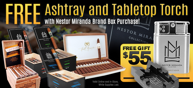 Nestor Miranda Collection Ashtray and Lighter Giveaway