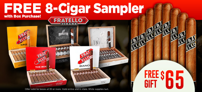 Fratello 8-cigar sampler with box purchase