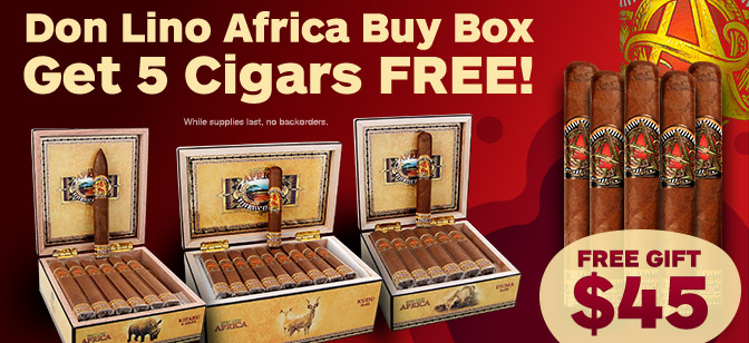 Don Lino Africa Buy Box Get 5 Cigars Free!