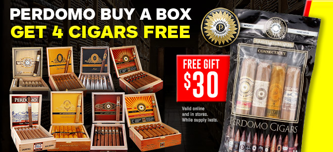 Perdomo Buy A Box Get 4 Cigars Free