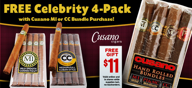 Buy Cusano M1 and CC Bundles Get Free 4 Pack